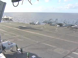 Landing an F18 Hornet on the Aircraft Carrier USS George... Stock Video Footage