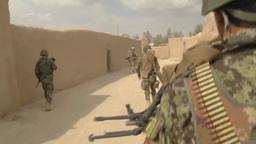 Soldiers on patrol in Afghanistan Stock Video Footage