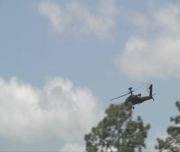 Apache helicopter fly by Footage