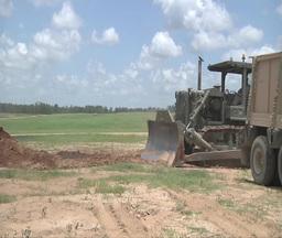 Bulldozer crawler tracked tractor Stock Video Footage