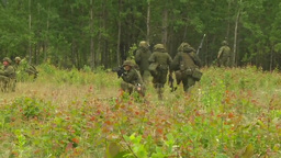 Lithuanian Soldiers defend their positions at Saber... Stock Video Footage