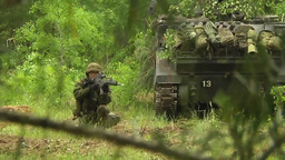 Lithuanian Soldiers defend their positions at Saber Strike 2014 Footage