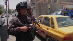 Security for Americans in Iraq Stock Video Footage