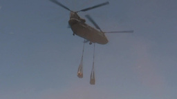 CH-47 Chinook helicopter Conducts Sling Load Training Footage