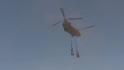 CH-47 Chinook helicopter Conducts Sling Load Training Stock Video Footage