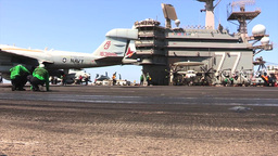 EA-6B Prowler USS George H.W. Bush (CVN 77) aircraft... Stock Video Footage