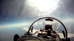 F/A-18 Cockpit video footage Stock Video Footage