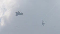 Military Fighter Jets take off and land Stock Video Footage