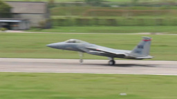 F-15 Eagle Military Fighter Jets take off and land Footage
