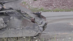Bradley Fighting Vehicle during Combined Resolve II Gunnery Footage