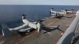 MV-22 Osprey tiltrotor helicopter Stock Video Footage