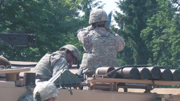 soldiers from a Mortar Team Conducts Gunnery practice Stock Video Footage