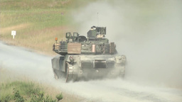 Tanks firing their guns Stock Video Footage