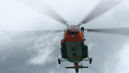 Helicopter Training with sling loads Stock Video Footage