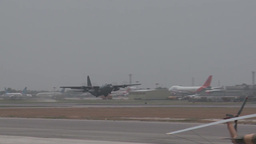 First Ever All Afghan Air Crew C-130 Hercules Flight Stock Video Footage