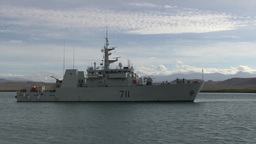 Royal Canadian Navy conducts Mediterranean Mooring Stock Video Footage