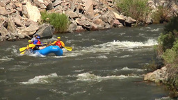White water rafting in Colorado Stock Video Footage