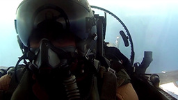 cockpit footage of pilot in fighter jet Footage