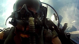 cockpit footage of pilot in fighter jet Stock Video Footage