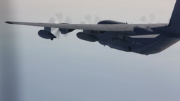Harrier and Osprey air to air refueling Stock Video Footage