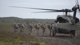 173rd Airborne Brigade UH-60 helicopter parachute Jump Footage