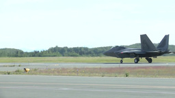 F-22 Raptor fighter jet at red flag Footage
