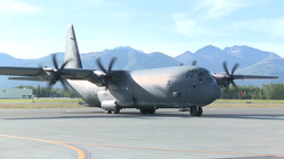 C-130 Hercules from Australia Participates in Red Flag 14-2 Stock Video Footage