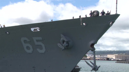 The Royal Brunei Navy arrive in Pearl Harbor Footage