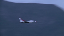 USAF Thunderbirds Arrival at Hill AFB 2014 Stock Video Footage