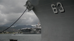 aircraft carrier USS Ronald Reagan Joint Base Pearl Harbor-Hickam Footage