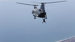 Free-fall and static-line jump from CH-46 Sea Knights Footage