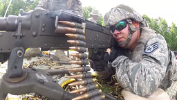 Live Fire Training on M240 and M249 Machine Guns Stock Video Footage