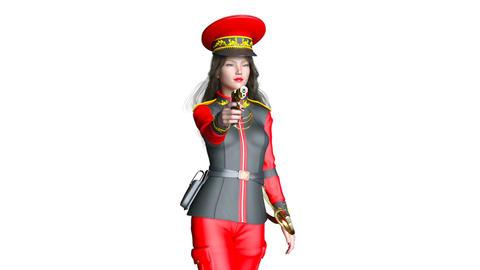 Police Woman Walk Animation