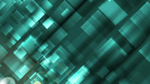 Abstract turquoise tech geometric squares video clip Animation