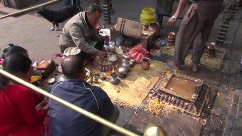 people in hinduism ceremony – Katmandu, Nepal, December 19, 2013 Footage
