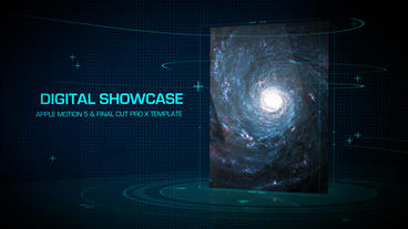 Digital Showcase - Apple Motion and Final Cut Pro X Template Apple Motionテンプレート