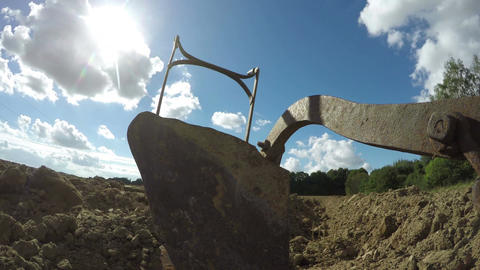 Antique plow in the field, 4K time lapse Footage