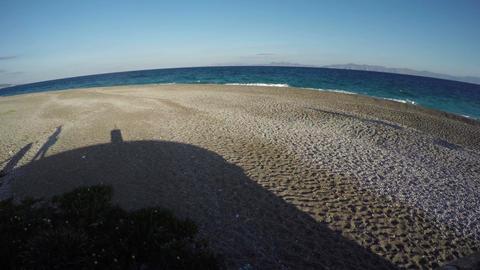 Seascape in Rhodes island, 4K Footage