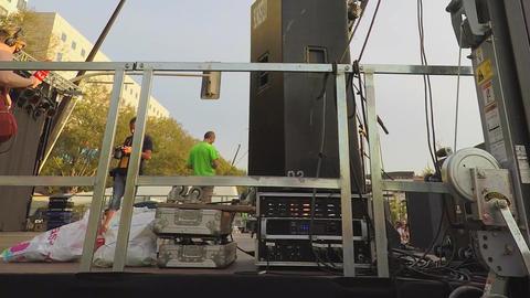Backstage Gear Music Filmmaterial