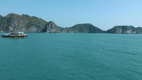 Beautiful views of Halong Bay Footage