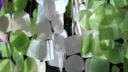 Europe Spain Balearic Ibiza hippy market es canar 120 moved wind chimes Filmmaterial