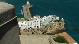 Europe Spain Balearic Ibiza Eivissa city 140 village on a promontory Footage