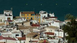 Europe Spain Balearic Ibiza Eivissa city 146 part of harbor district Footage