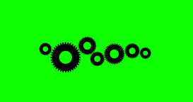 Cogs And Wheels 4K Animation With Saved Green Alpha Channel Animation