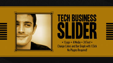 4K Tech Business Slider Plantilla de After Effects