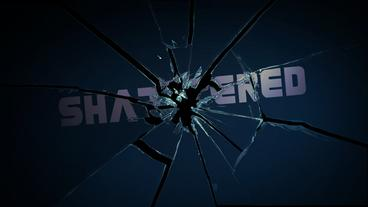 Shattered - Shattering Glass/Mirror Logo Stinger After Effects Template