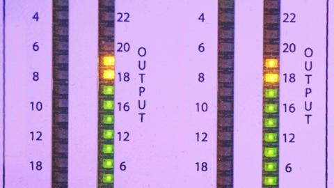 Led light output level indicator Footage
