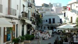 Europe Spain Balearic Ibiza Eivissa city 169 Dalt Vila square Footage