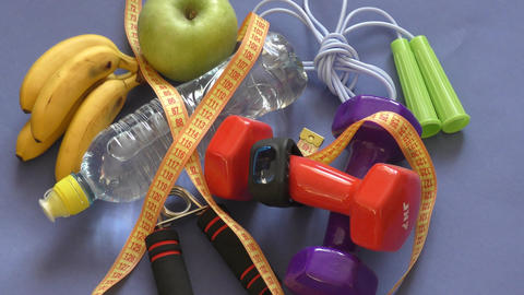 The concept of a healthy lifestyle, sports and diet Live Action
