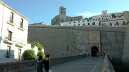 Europe Spain Balearic Ibiza Eivissa city 172 way to the drawbridge Footage